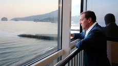 Рабочая поездка премьер-министра РФ Д.Медведева в Крым. День второй