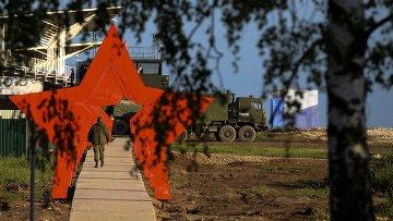 Военная техника во время демонстрационной программы Международного военно-технического форума Армия-2015 в подмосковной Кубинке
