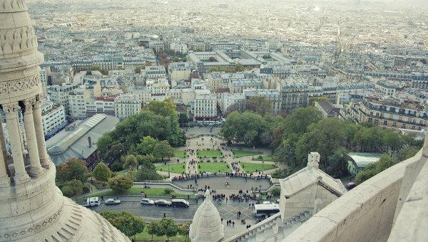 Виды Парижа, Франция. Архивное фото