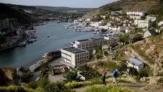 Вид на бухту Балаклавы, Крым. Архивное фото