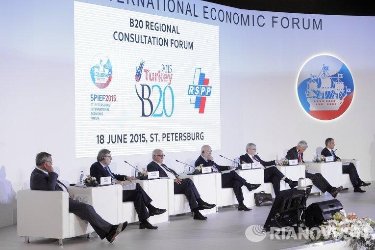 Панельная сессия Финансирование роста, инфраструктура и инвестиции, противодействие коррупции, приоритеты развивающихся стран в рамках ПМЭФ 2015