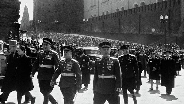 Парад Победы на Красной площади в Москве. 24 июня 1945 года