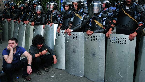 Акция протеста в Ереване. Архивное фото