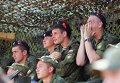 Военнослужащие на всеармейских соревнованиях по танковому биатлону на полигоне Прудбой под Волгоградом