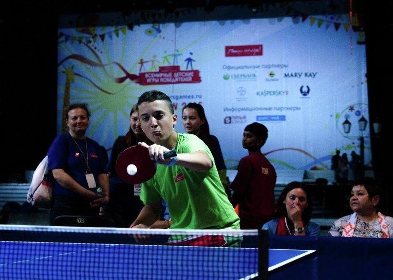 Соревнования по настольному теннису в рамках Всемирных детских Игр победителей-2015