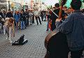 Уличные музыканты на Старом Арбате в Москве