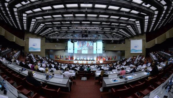На открытии осенней сессии Парламентской ассамблеи Организации по безопасности и сотрудничеству в Европе (ОБСЕ) в Женеве. Архивное фото