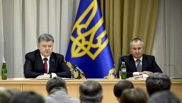 Петр Порошенко и Василий Грицак. Архивное фото