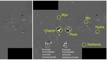 Один из фрагментов карты опасности, составленной по снимкам с зонда New Horizons