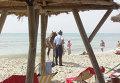 Конная полиция на пляже в Хаммамете (Тунис)