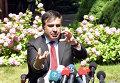Председатель Одесской областной государственной администрации Михаил Саакашвили на пресс-конференции по итогам встречи с послом США на Украине Джеффри Пайеттом