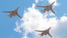 Cтратегические бомбардировщики-ракетоносцы Ту-160. Архивное фото