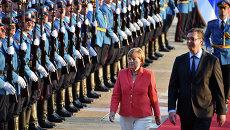 Канцлер Германии Ангела Меркель и премьер-министр Сербии Александр Вучич. Архивное фото