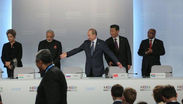 Подписание совместных документов по итогам встречи лидеров БРИКС