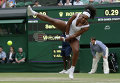 Американская теннисистка Серена Уильямс на турнире по теннису в Уимблдоне