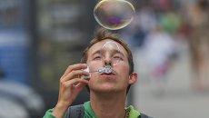 Парад мыльных пузырей в Казани