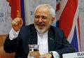 Министр иностранных дел Ирана Мохаммад Джавад Зариф во время переговоров в Вене, Австрия