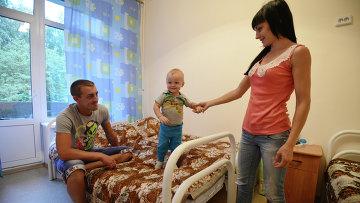 Пункт размещения украинских беженцев в Новосибирске