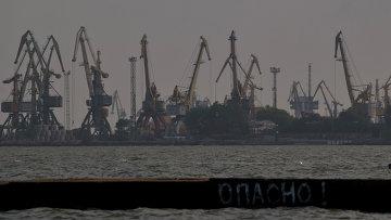 Вид на Мариупольский морской порт на Азовском море, Украина. Архивное фото