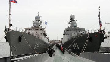 Ракетные корабли ВМФ России. Архивное фото