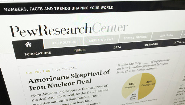 Страница сайта The Pew Research Center