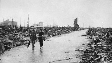 Последствия атомной бомбардировки Хиросимы. 8 сентября 1945