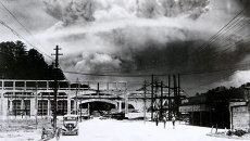 Грибовидное облако от атомного взрыва над Нагасаки, Япония. 9 августа 1945 года. Фото сделал Хиромити Мацуда, через 20 минут после взрыва.