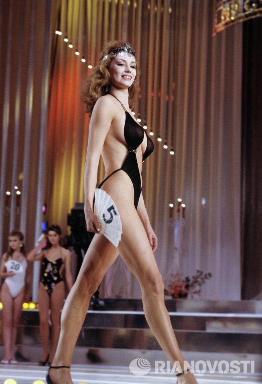 Призер I Всесоюзного конкурса красоты Мисс СССР - 89 Екатерина Мещерякова