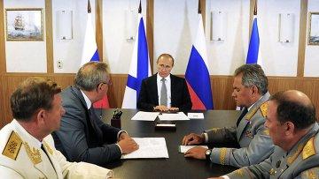Рабочая поездка президента РФ В.Путина в Калининградскую область