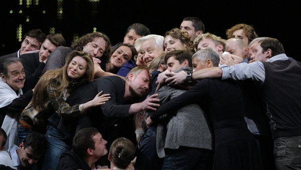 Юбилейный вечер Олега Табакова в МХТ имени А.П. Чехова. Архивное фото