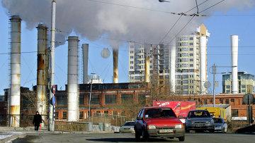 Тепловая станция в Киеве, Украина. Архивное фото