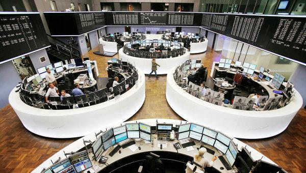 Фондовая биржа в Франкфурте. Архивное фото