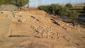 Останки стен и ворот Гефа, предположительной родины гиганта Голиафа