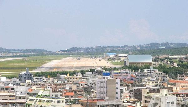 Вид на аэродром военной базы США Футэмма в городе Гинован. Архивное фото