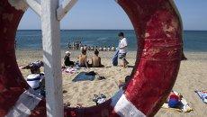 Пляж Черного моря. Архивное фото