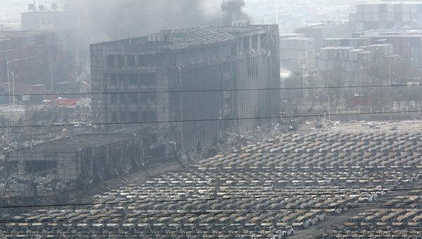 Последствия взрывов в Тяньцзине, Китай, 14 августа 2015. Архивное фото