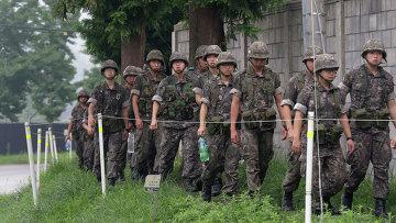 Южнокорейские солдаты. Архивное фото