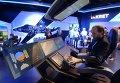 """Стенд концерна """"Радиоэлектронные технологии"""" (КРЭТ) во время открытия Международного авиационно-космического салона МАКС-2015"""