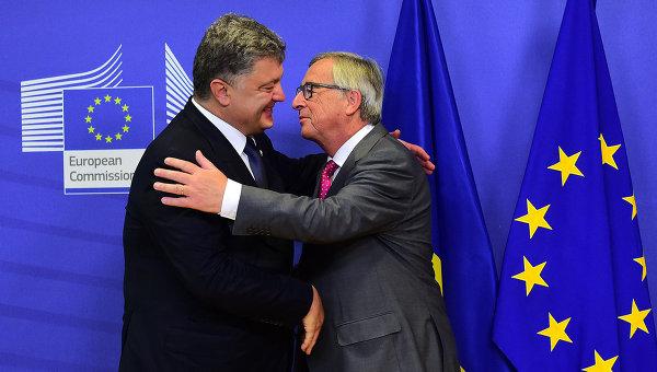 Президент Украины Петр Порошенко и председатель Европейской комиссии Жан-Клод Юнкер. Архивное фото