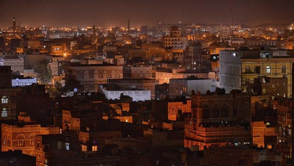 Ночной вид Саны. Йемен