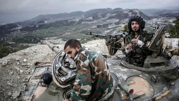 Танкисты правительственных войск сирийской армии. Архивное фото