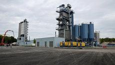 Завод по производству асфальтобетона в Рязанской области. Архивное фото