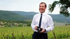 Рабочая поездка премьер-министра РФ Д.Медведева в Крымский федеральный округ
