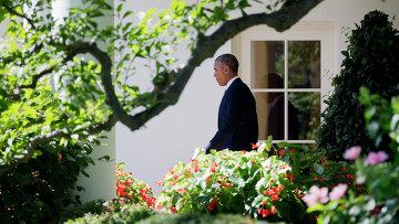 Президент США Барак Обама возле Белого дома, Вашингтон. Архивное фото
