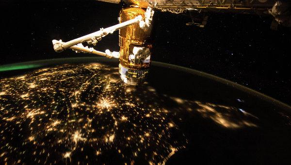 Утренняя Земля с борта МКС. Архивное фото