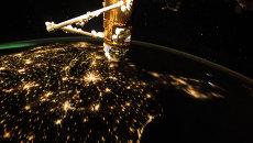 Изображение Земли, сделанное с борта МКС. Архивное фото