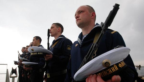 Матросы Балтийского флота. Архивное фото