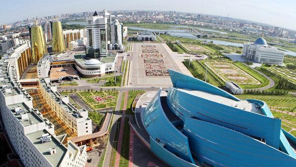 Вид с воздуха на Астану. Архивное фото