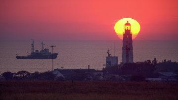 Маяк на западной оконечности Крыма