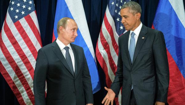 Президент России Владимир Путин и президент США Барак Обама,архивное фото